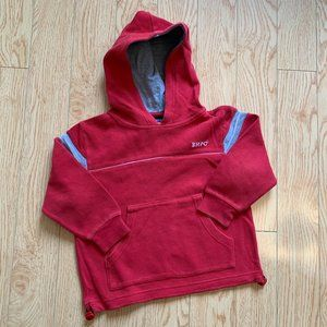 Red Sweater Hoodie Boys Long Sleeve Size 4
